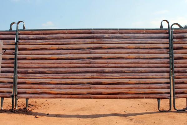 """Windschutznetz """"Holzzaun"""" 4m x 1,25m"""