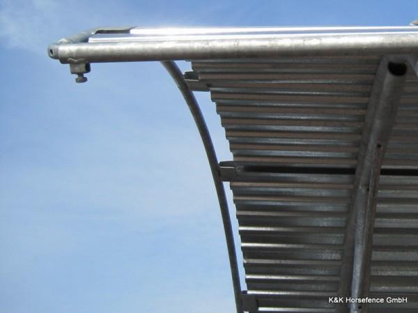 Heuraufe, Futterraufe mit Dach, 2m x 2m, fahrbar