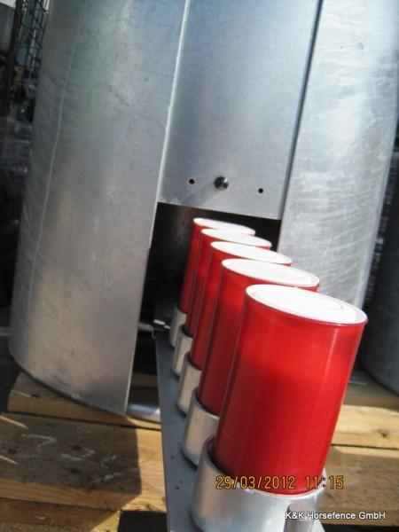 Pferde Tränke frostsicher 90 Liter Edelstahl Wasserbehälter