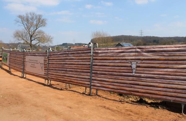 Windschutznetz Holzzaun 3,6m x 1,25m