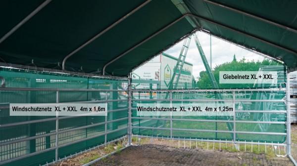 Windschutznetz Giebelnetz Weideunterstand XL + XXL
