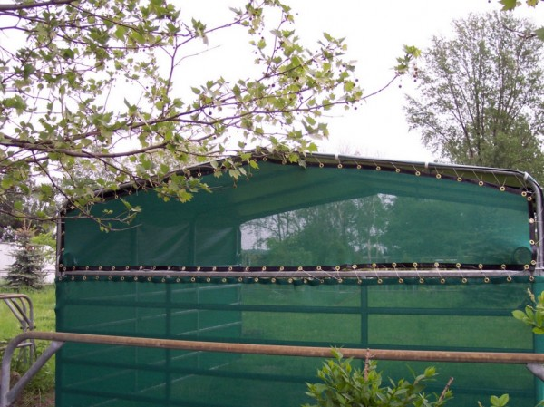 Windschutznetz Giebelnetz K&K Weideunterstände 360 + 720