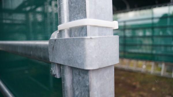 XL Weideunterstand 4x4m, mit Dachplane und Panel