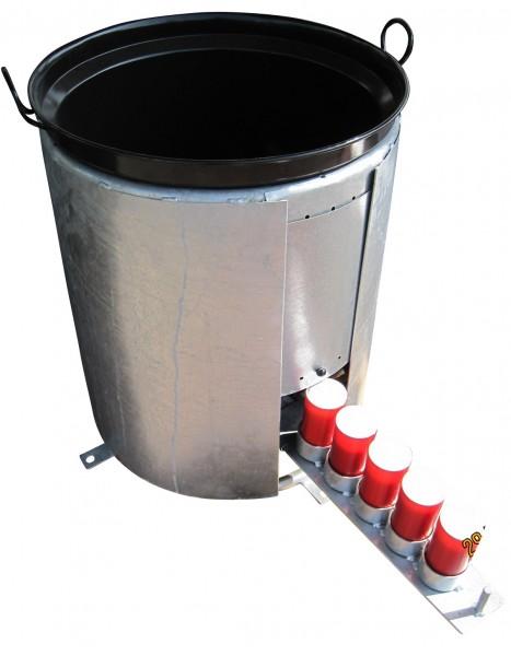 Pferde Tränke frostsicher 65 Liter Edelstahl Wasserbehälter